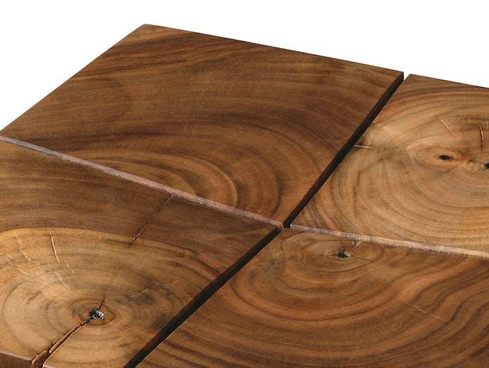 E15 BACKENZAHN stool walnut detail w