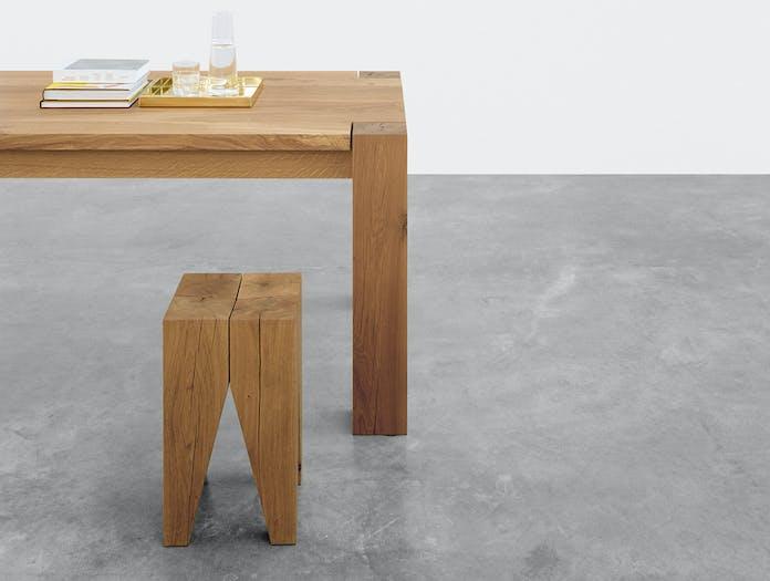 E15 Backenzahn stool oak