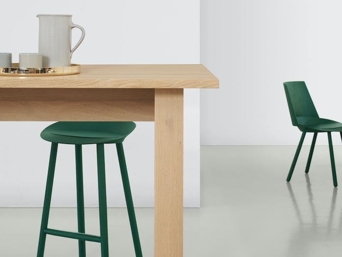E15 Basis High Table detail 2 David Chipperfield Jean Stools