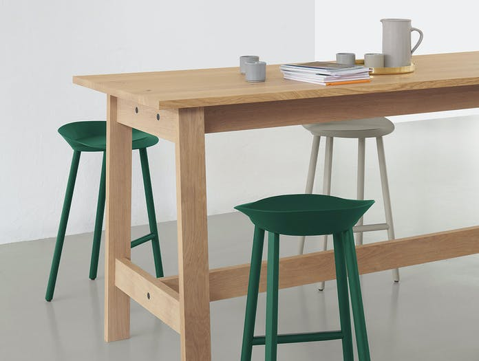 E15 Basis High Table detail David Chipperfield Jean Stools