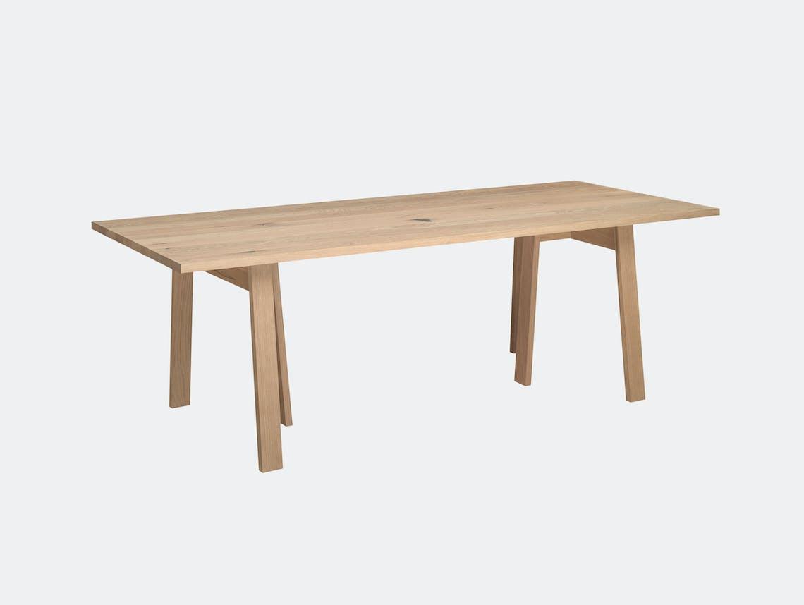 E15 Basis Table Whitened Oak David Chipperfield