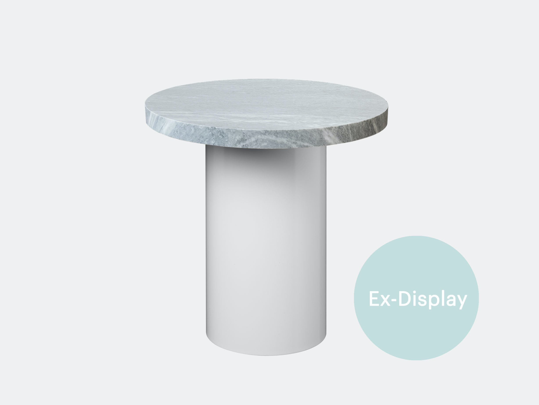 E15 Enoki 40 x 40 white base grey marble ex display