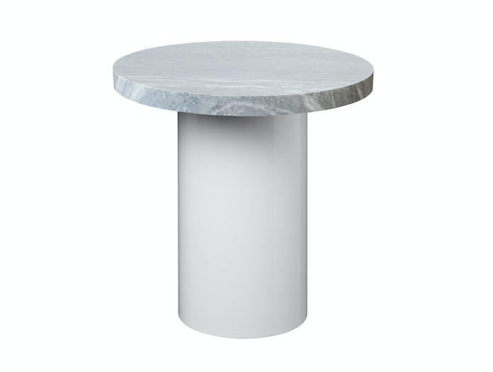 E15 Enoki 40 x 40 white base grey marble w