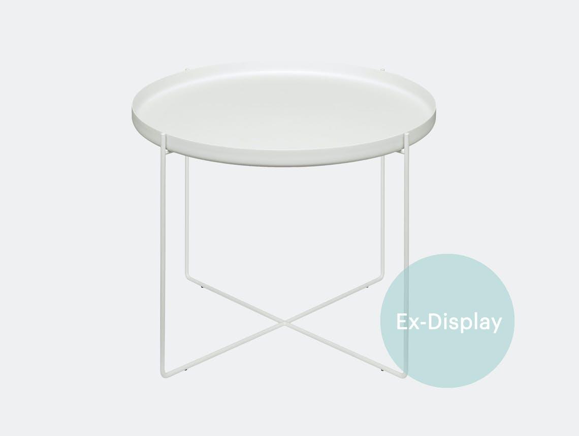 E15 Habibi Table white dia 57xh 47cm ex display