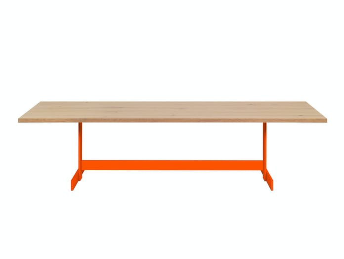 E15 KAZIMIR table pure orange side