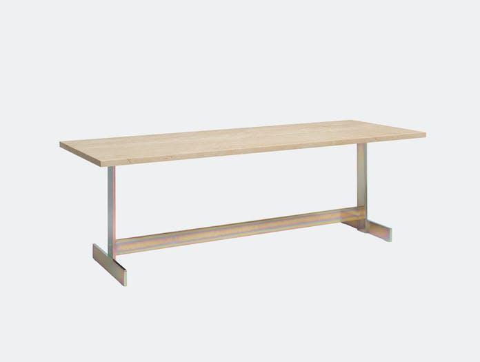 E15 Lazlo Side Table Rectangular Travertine Philipp Mainzer