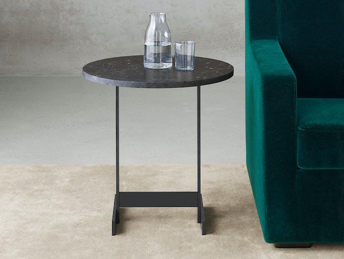 E15 Lazlo Side Table Round Black Marble Philipp Mainzer