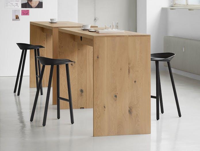 E15 PONTE high table oak Jean stools