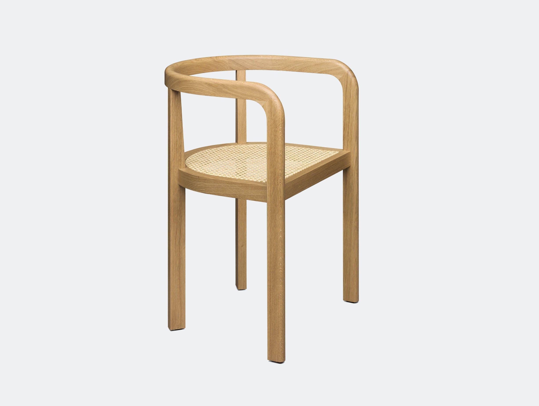 E15 Stuttgart Chair Oak Cane Vienna Weave Richard Herre
