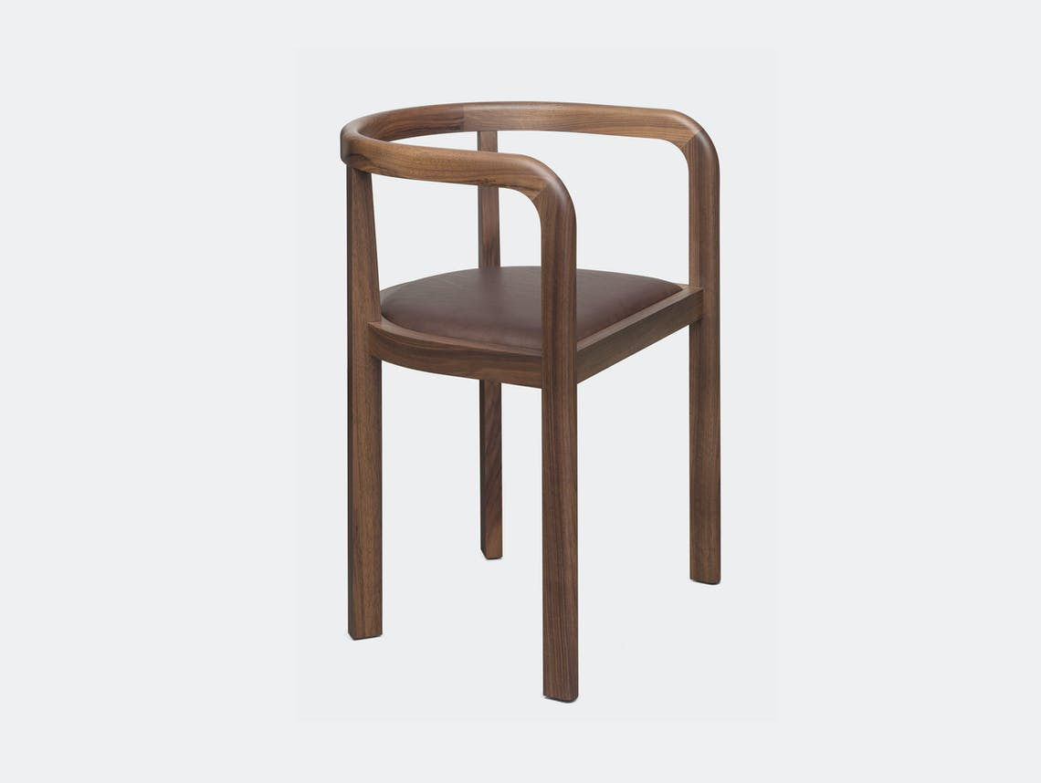 E15 Stuttgart Chair Walnu Leather Richard Herre
