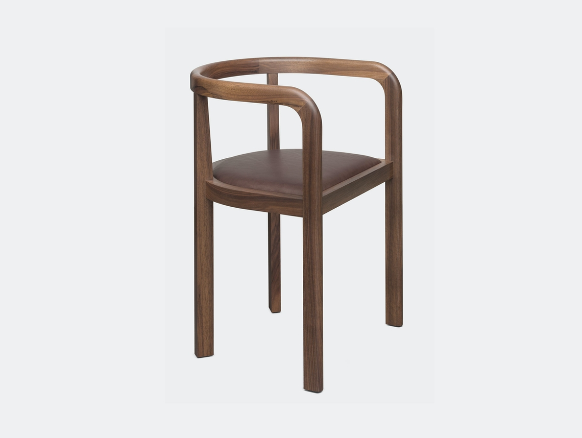 E15 Stuttgart Chair Walnu Leather Richard Herre
