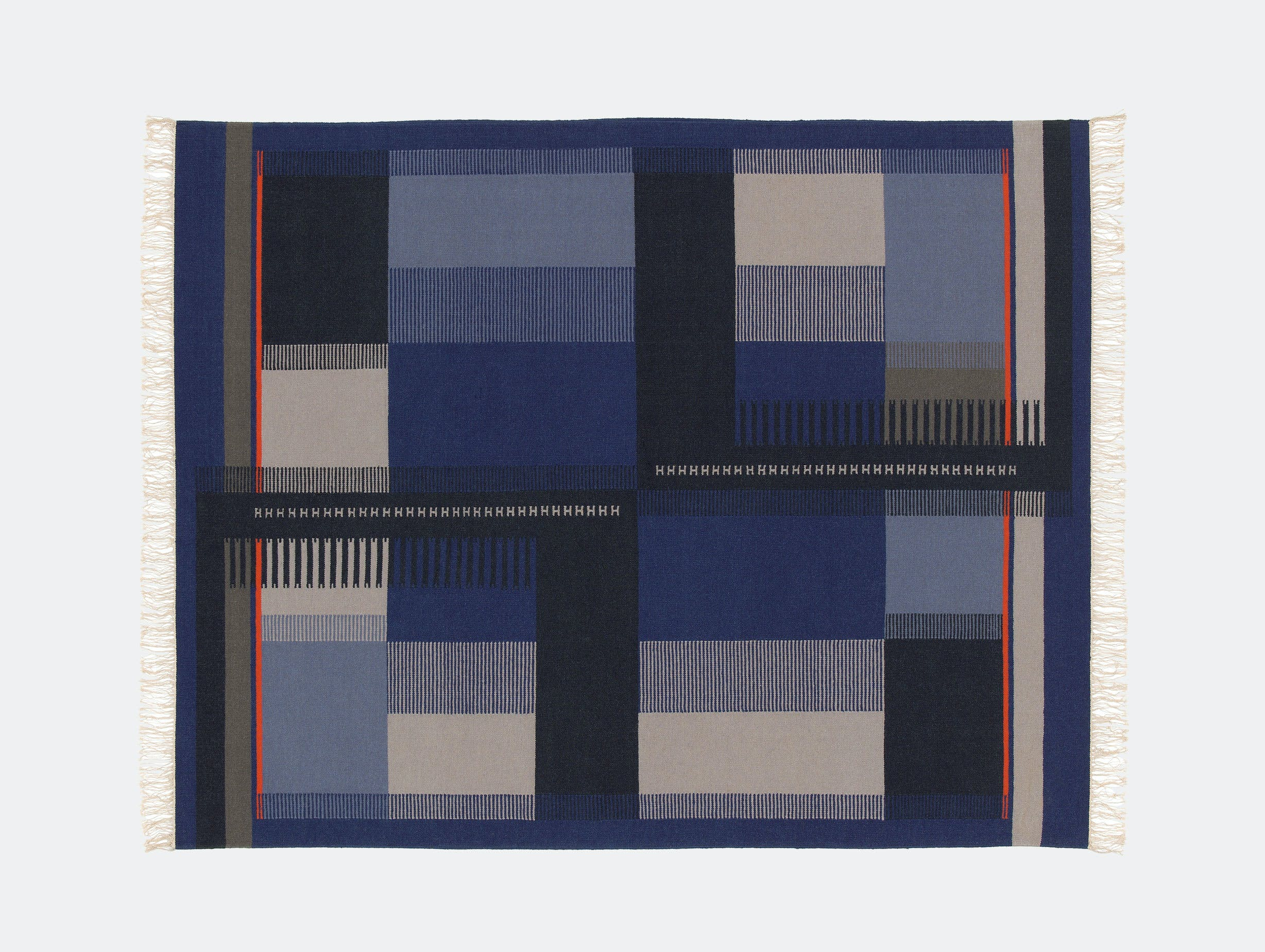 E15 Zet Kilim blue orange Richard Herre