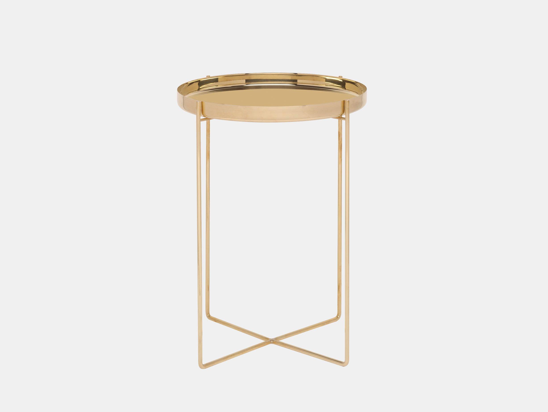 E15 habibi side table brass dia 37 x h 47 cm philipp mainzer
