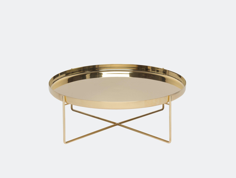 E15 habibi side table brass dia 57 x h 30 cm philipp mainzer