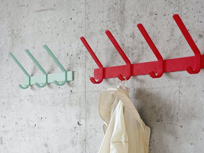 E15 uni coat hook 3 mint red
