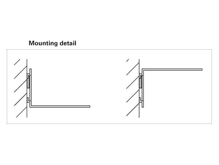 E15 profil shelf mounting detail