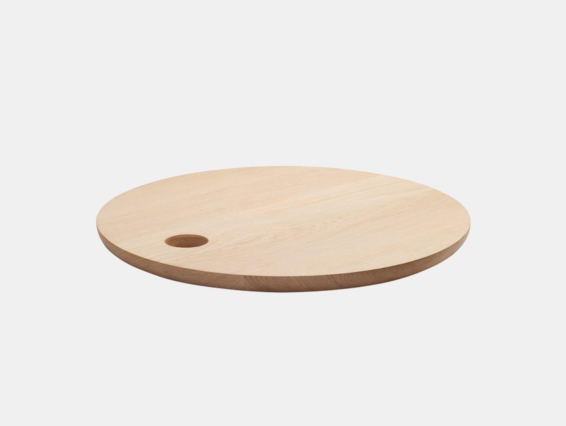 E15 Cut Cutting Board Round Oak Philipp Mainzer