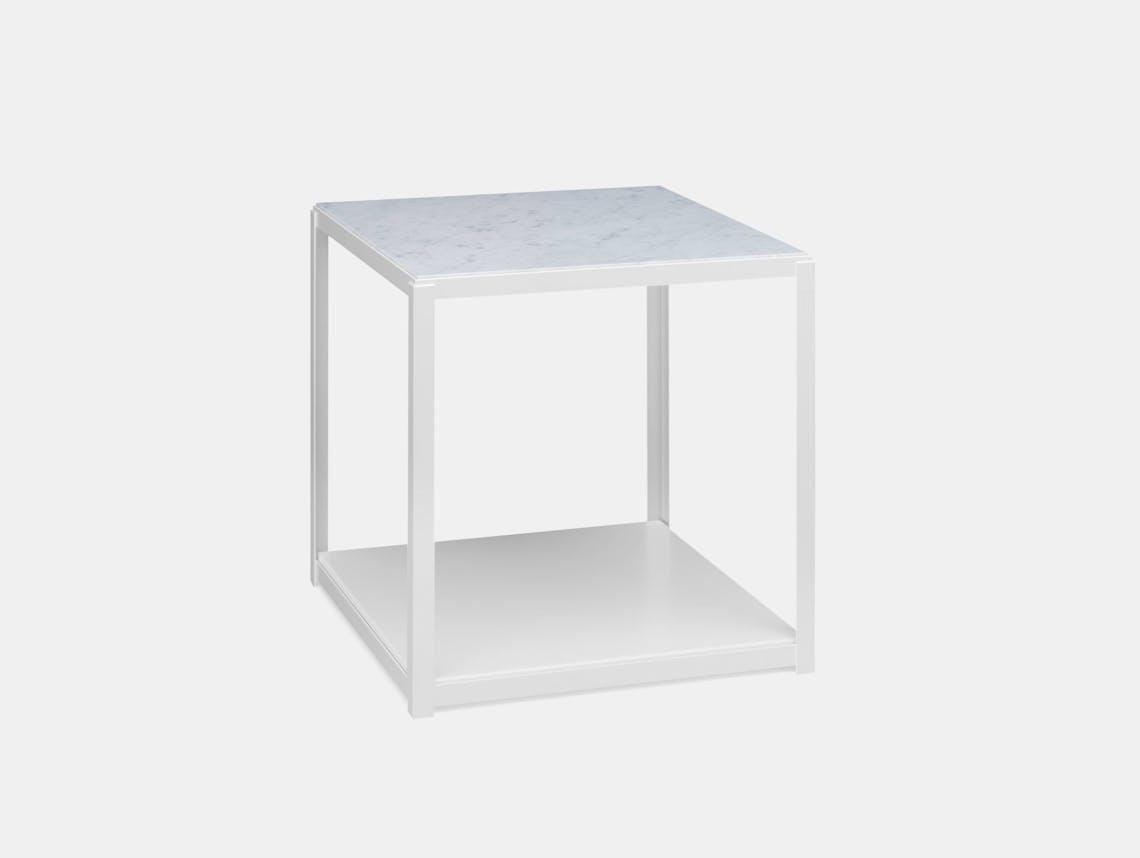 E15 Fortyforty Side Table White Marble Ferdinand Kramer
