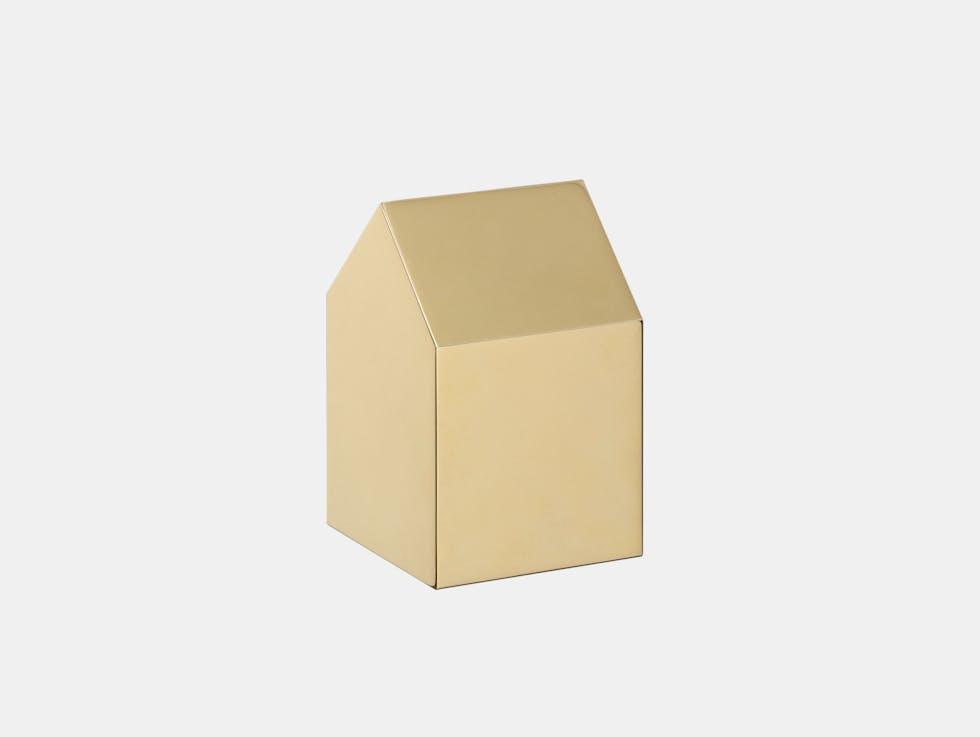 Haus Paperweight - Brass image