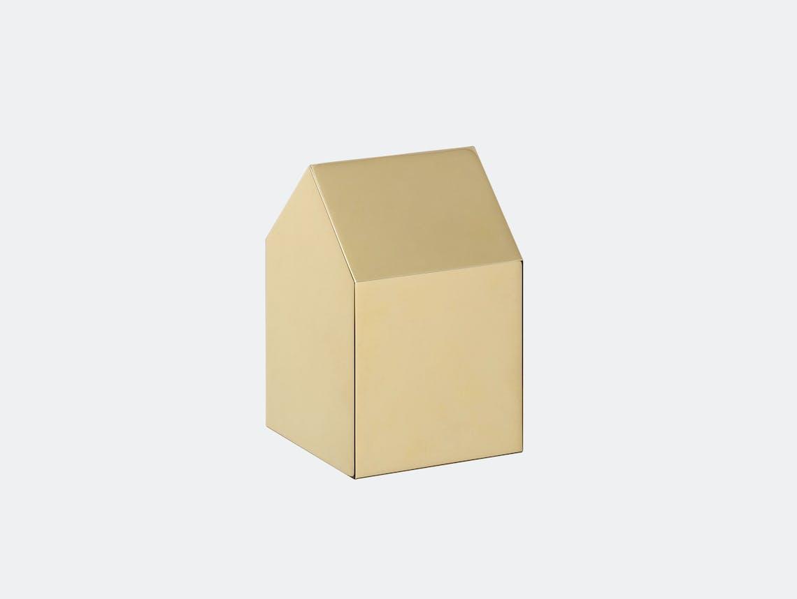 E15 Haus Paperweight Brass Jan Philip Holler