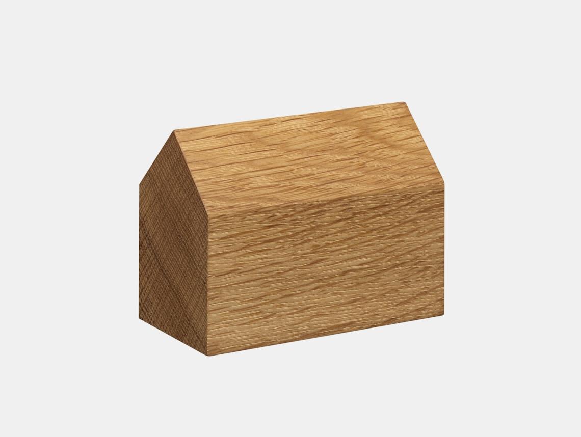 E15 Haus Paperweight Oak Saddle Roof Large Jan Philip Holler