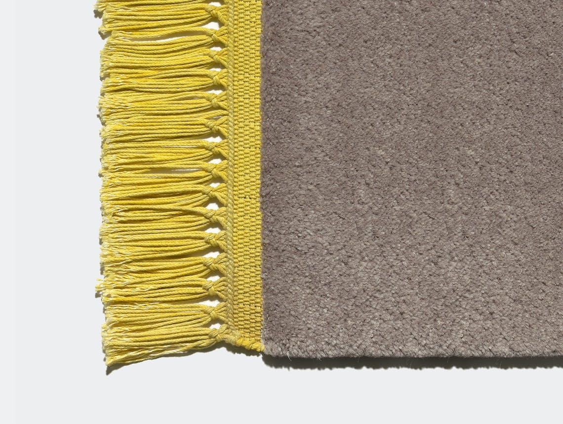 E15 Kavir Rug Taupe Mustard Yellow Philipp Mainzer Farah Ebrahimi