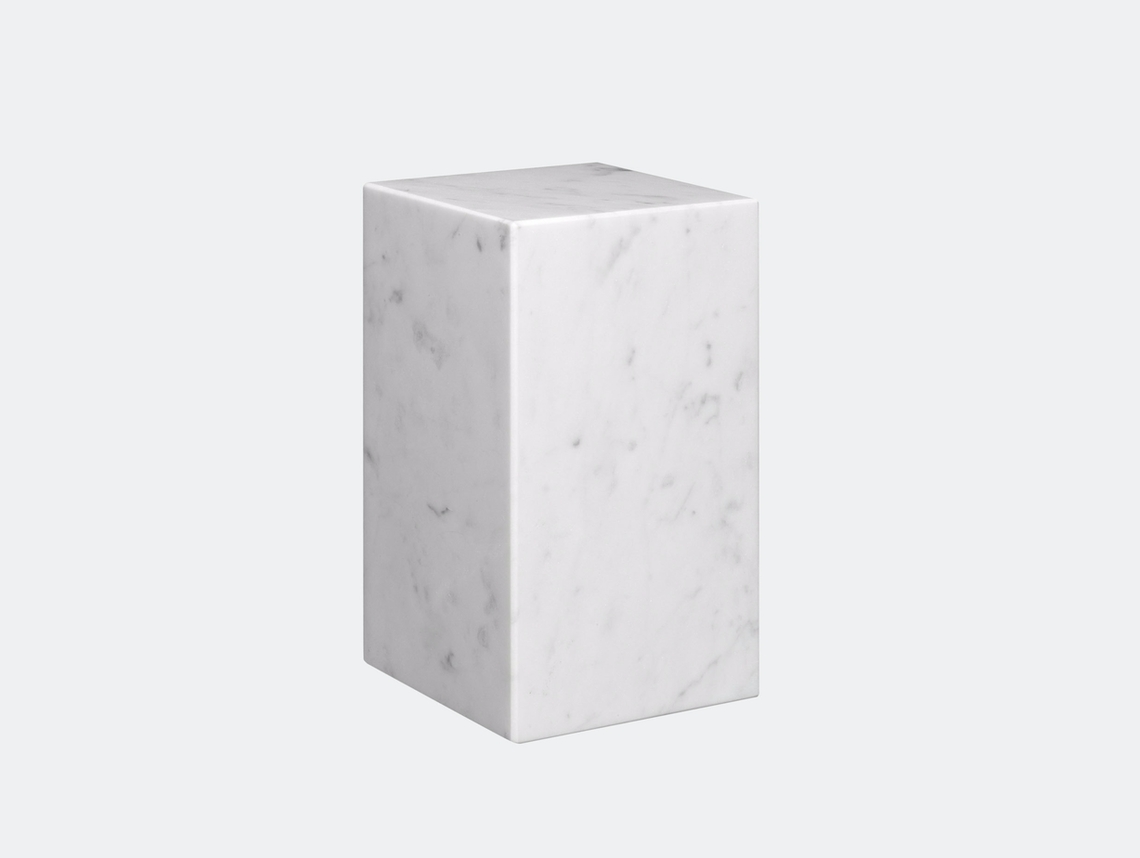 E15 Stop Bookend Tall White Marble Philipp Mainzer