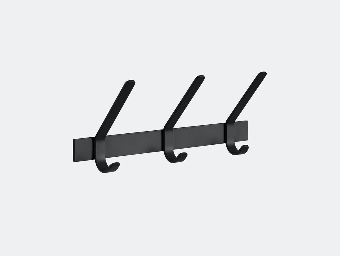 E15 Uni Coat Rack 3 Hook Black Ferdinand Kramer