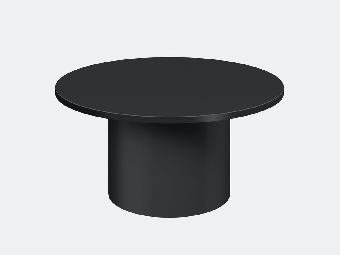 E15 enoki metal side table jet black low