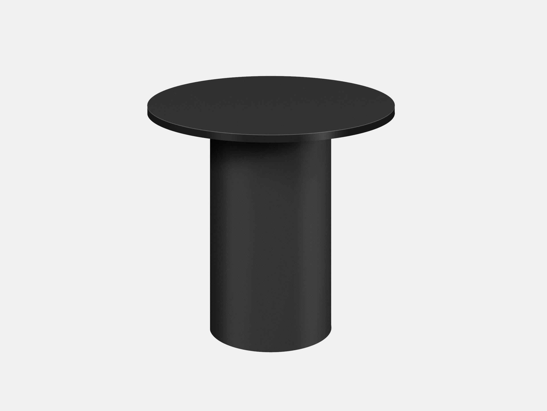 E15 enoki metal side table jet black tall
