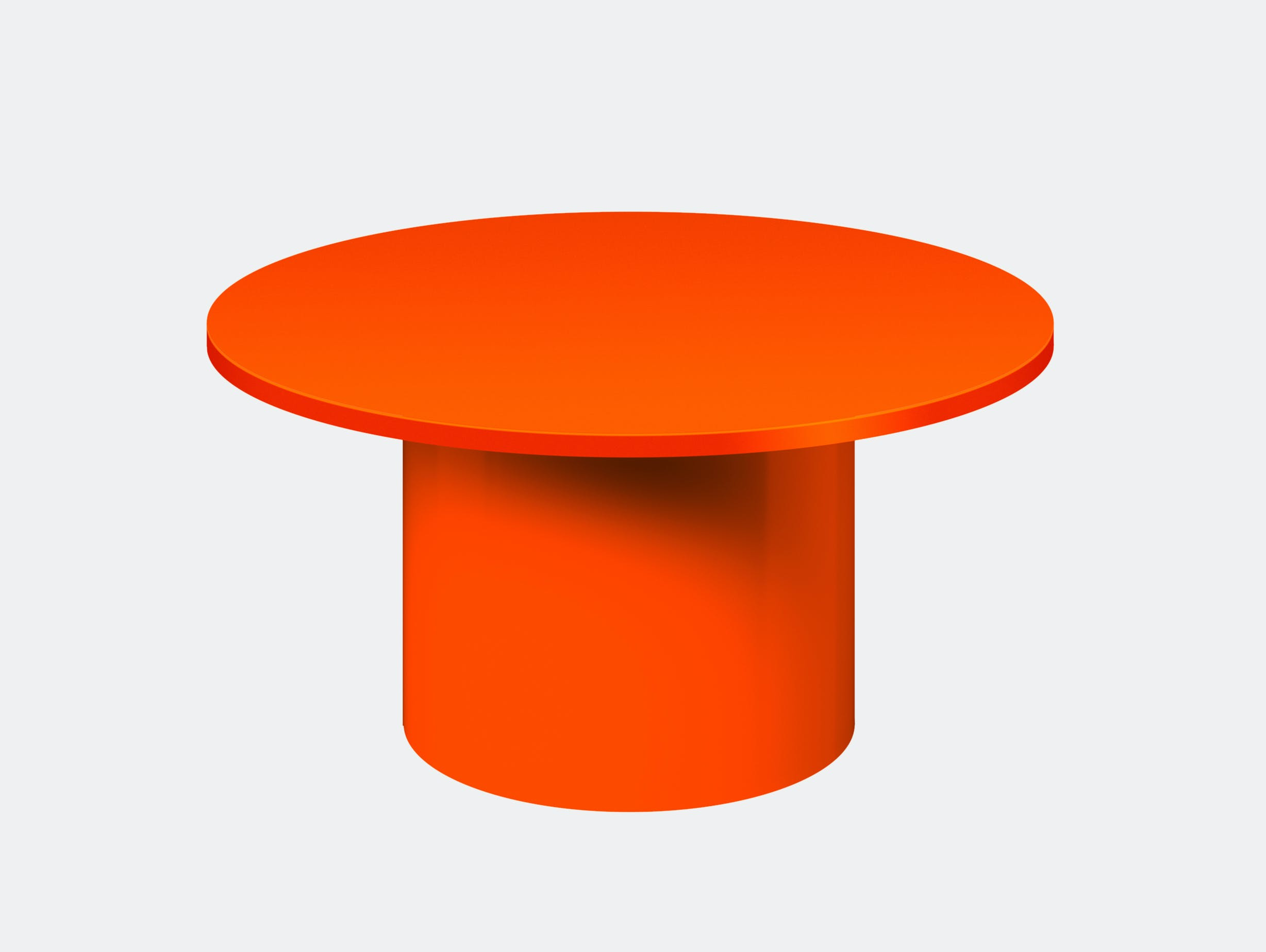 E15 enoki metal side table pure orange low