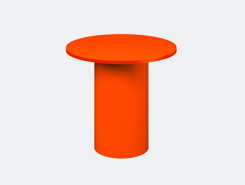 E15 enoki metal side table pure orange tall