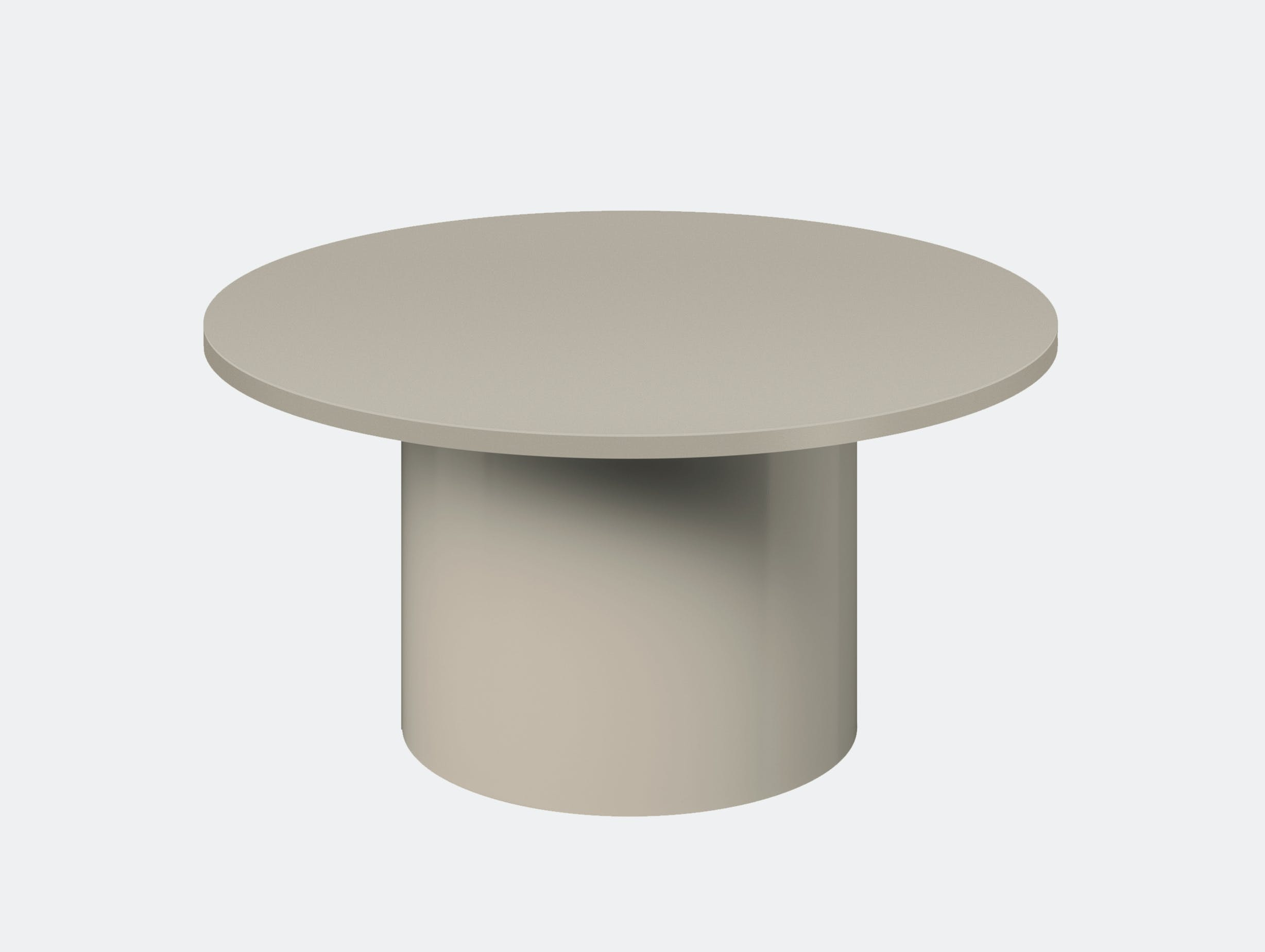 E15 enoki metal side table silk grey low