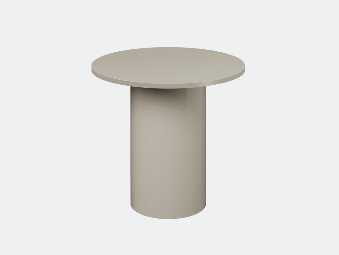 E15 enoki metal side table silk grey tall