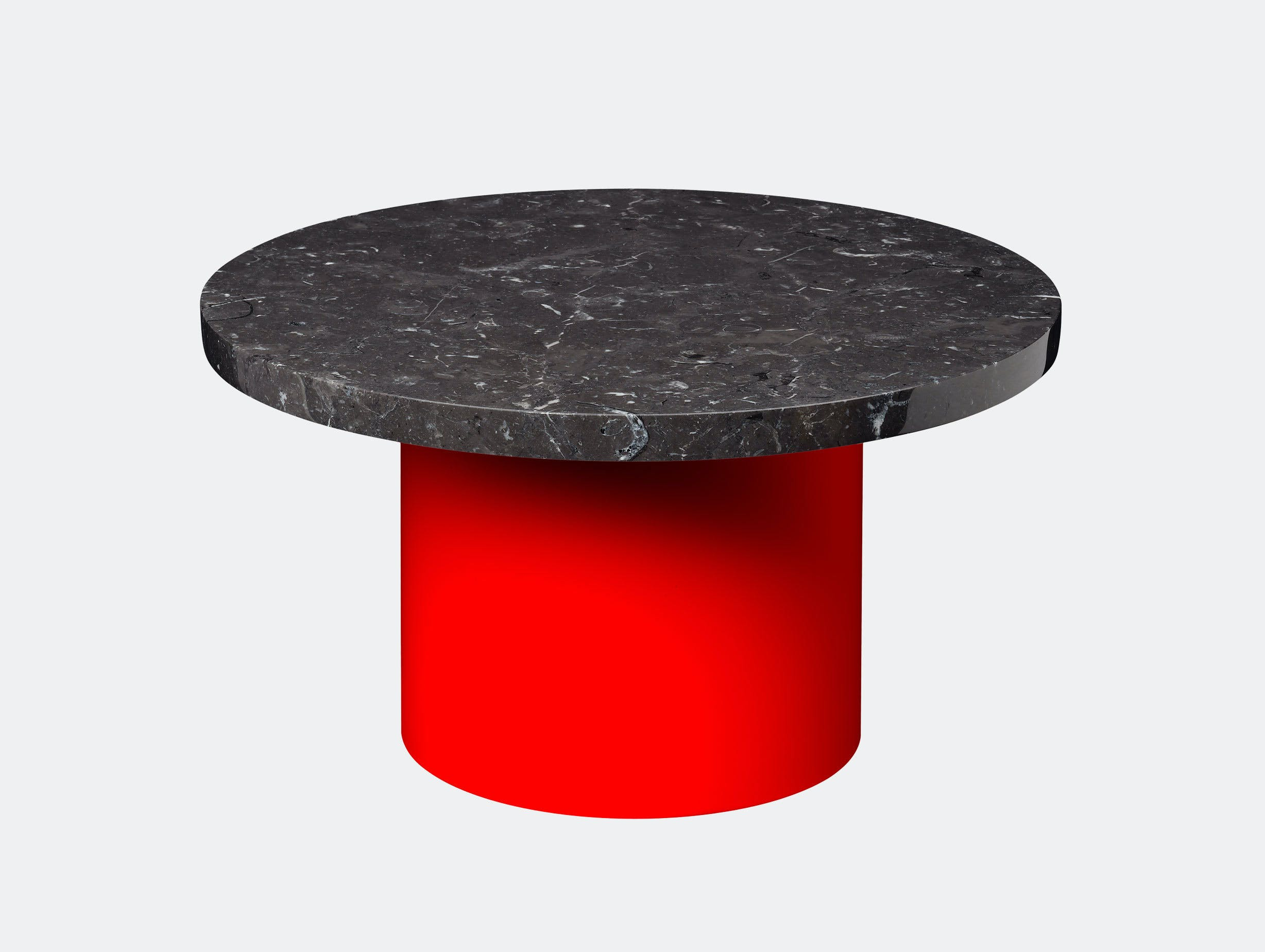 E15 Enoki Side Table Red Black Marble Lg Philipp Mainzer