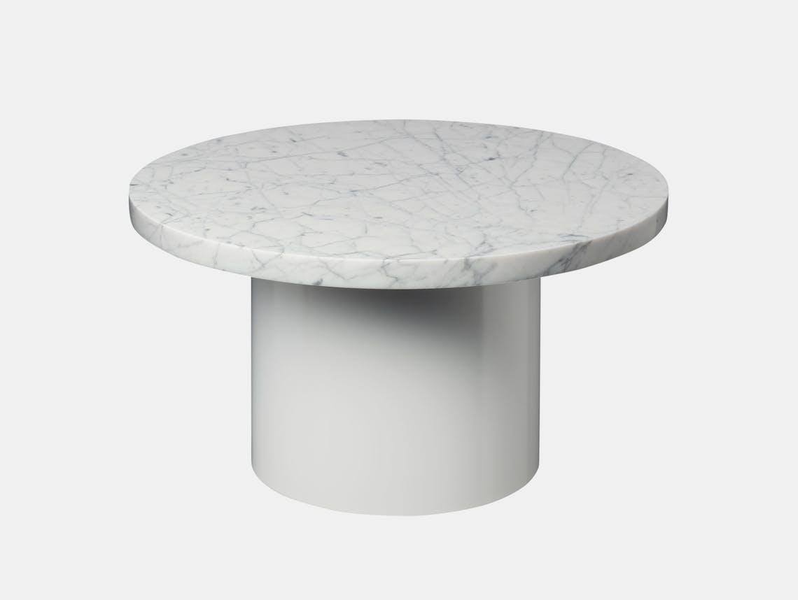 E15 Enoki Side Table White White Marble Lg Philipp Mainzer
