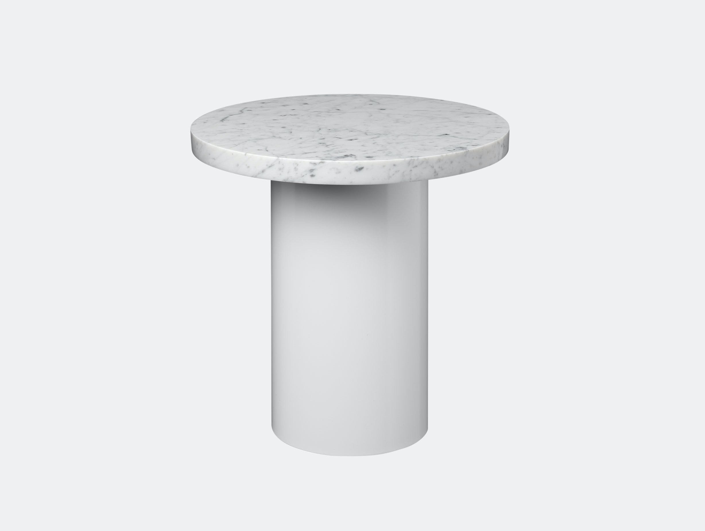 E15 Enoki Side Table White White Marble Sm Philipp Mainzer