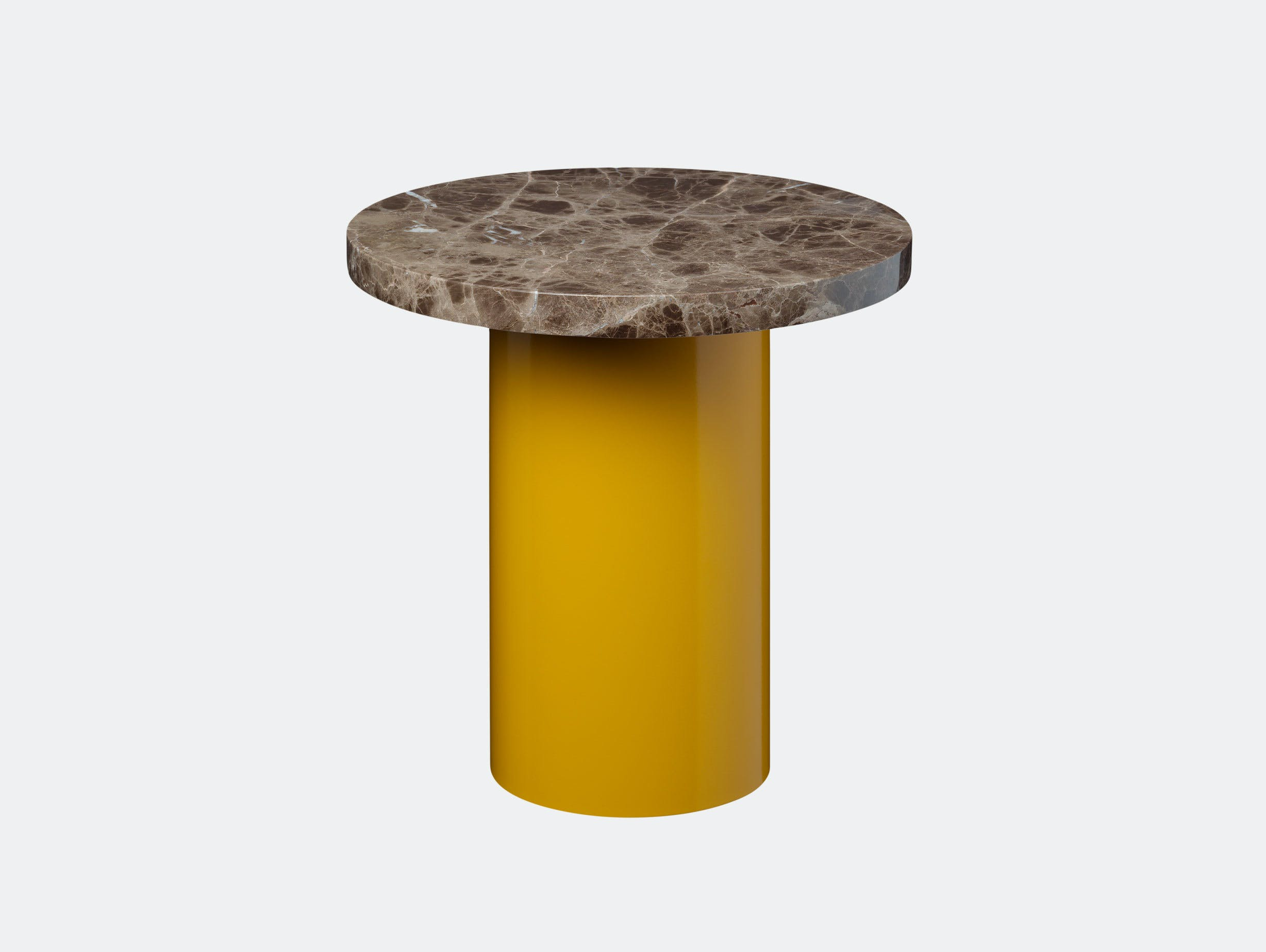 E15 Enoki Side Table Yellow Brown Marble Sm Philipp Mainzer