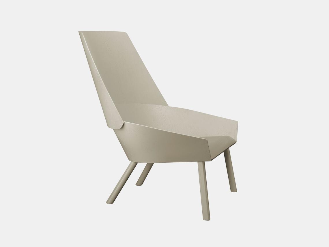 E15 Eugene Lounge Chair Silk Grey Stefan Diez