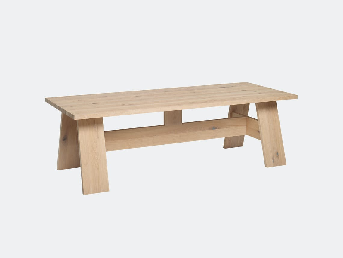 E15 Fayland Table Oak White Pigment David Chipperfield