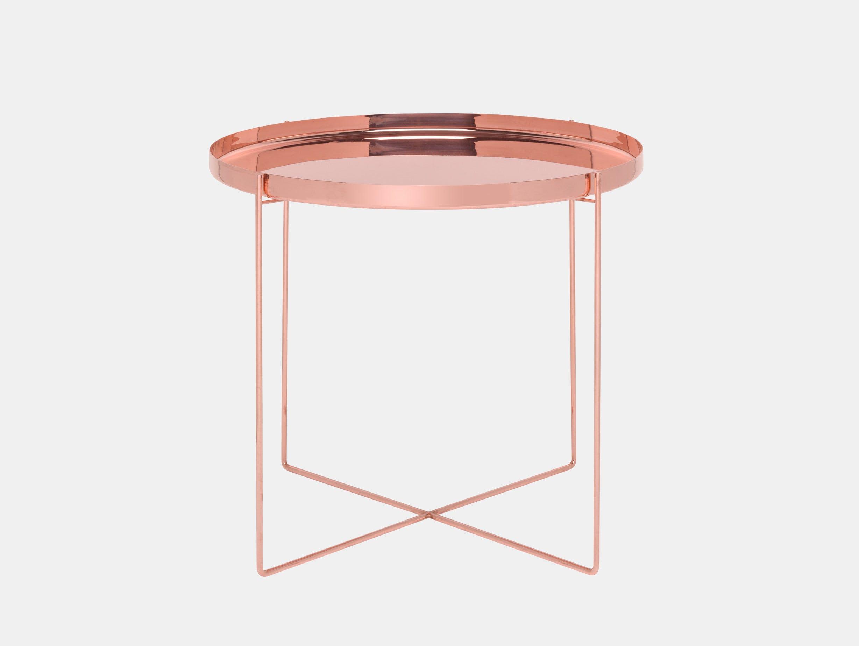 E15 Habibi Side Table Copper Philipp Mainzer