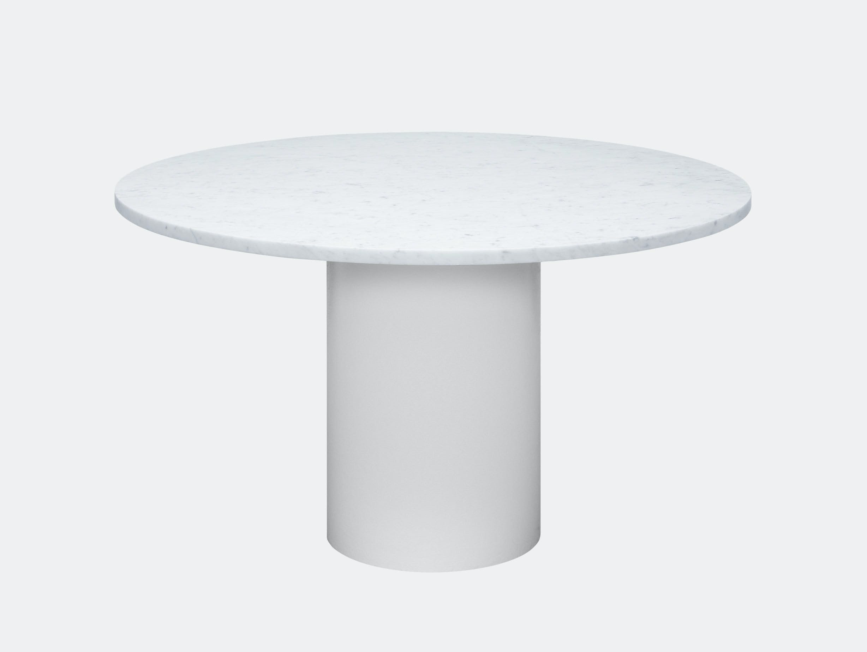 E15 Hiroki Table White Carrara Marble Philipp Mainzer