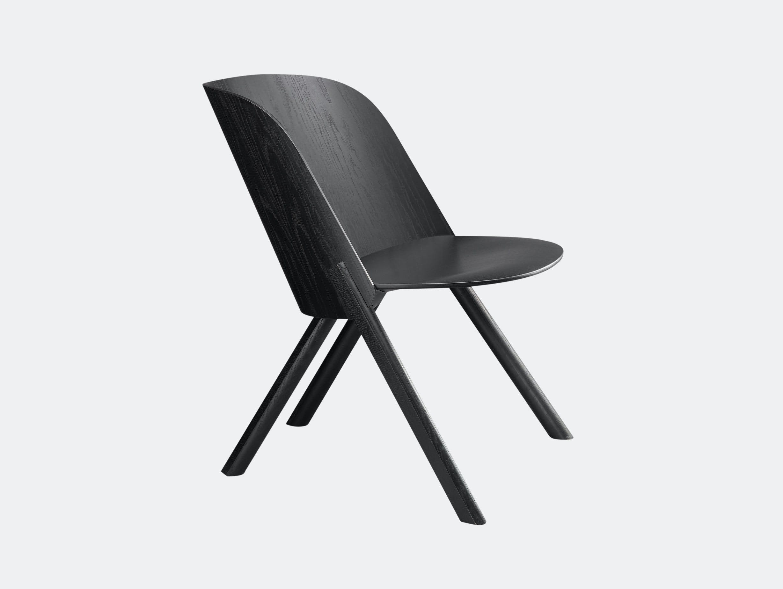 E15 That Lounge Chair Black Stefan Diez