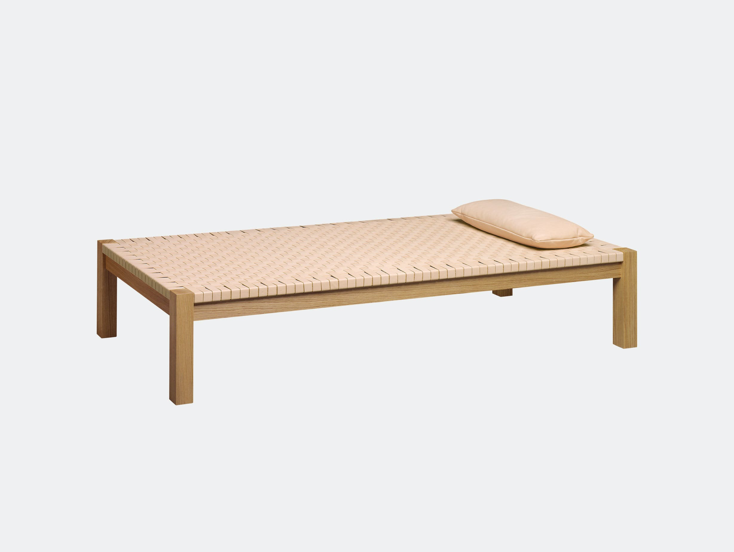E15 Theban Daybed Oak Natural Leather Ferdinand Kramer