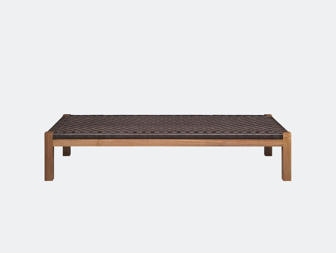 E15 Theban Daybed Side Walnut Mocca Leather Ferdinand Kramer