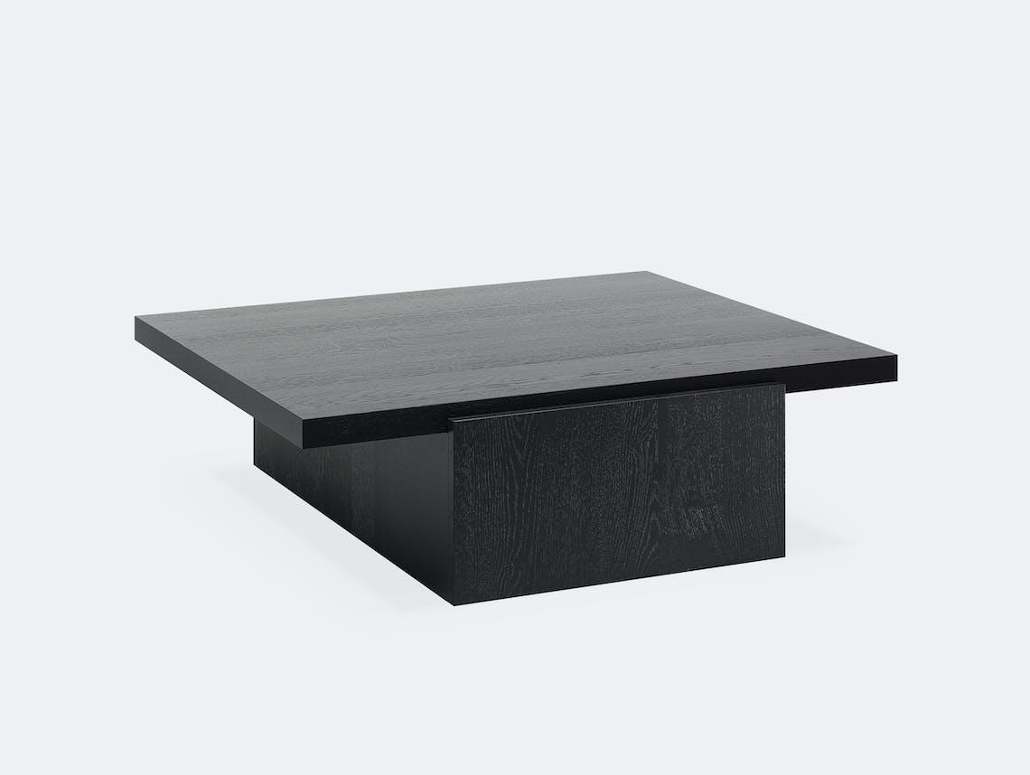 E15 tore table large jet black ct