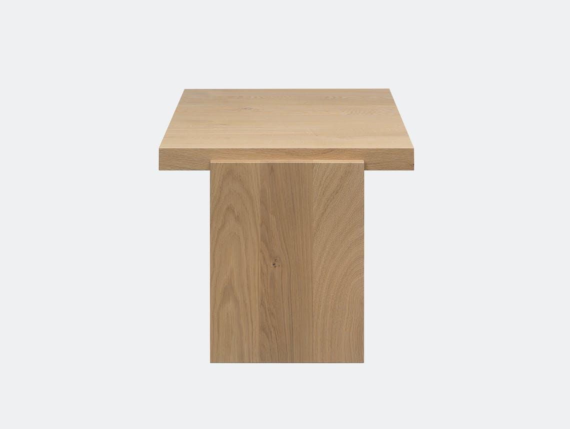 E15 tore table medium white oak