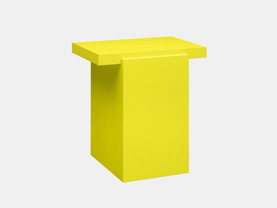 E15 tore table small sulphur yellow