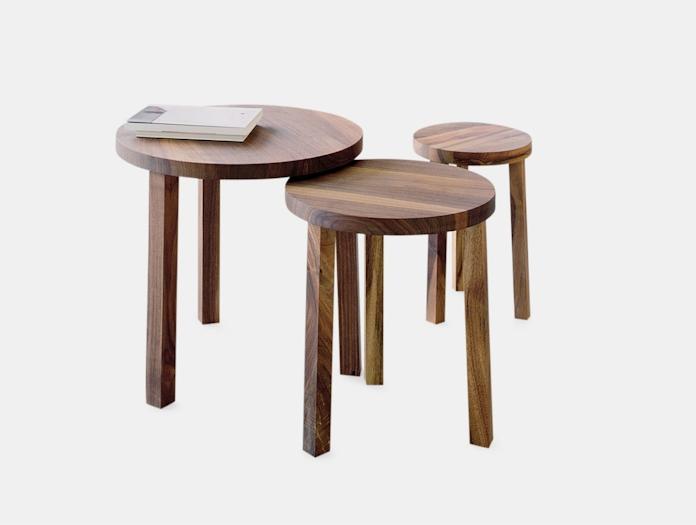 E15 Alex Side Tables Walnut Philippe Allaeys
