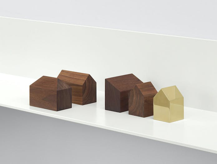 E15 Haus Paperweights Brass Walnut Jan Philip Holler